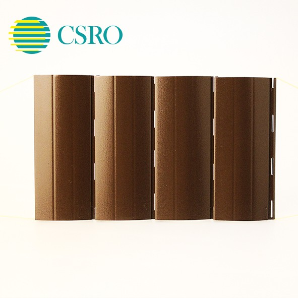 Top sale aluminum roller wood shutter slats with pu foam