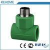 Water supply pipe fittings din8077 ppr male threaded tee