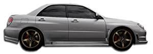 2006-2007 Subaru Impreza WRX STI 4DR Duraflex GT500 Wide Body Side Skirts Rocker Panels - 2 Piece