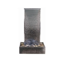 stainless steel indoor wall waterfall garden water features outdoor water fountain landscaping SEG0691