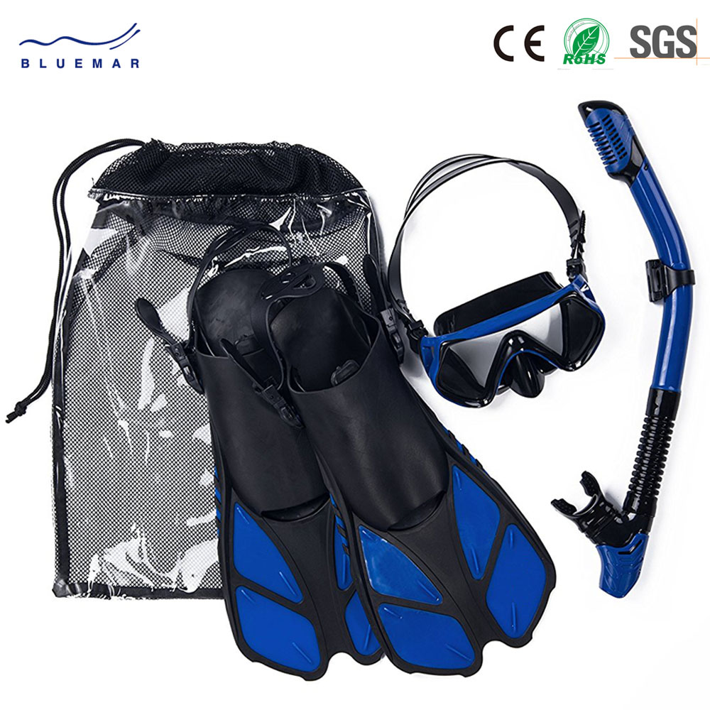 2018 hot sale Wholesale Snorkeling Equipment Set Diving Mirror snorkeling mask Ventilation tube monofin Fins Set