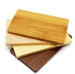 Laser Engraving logo Rectangle Flip wooden USB business card flashdrive Wood usb card 1GB 2GB