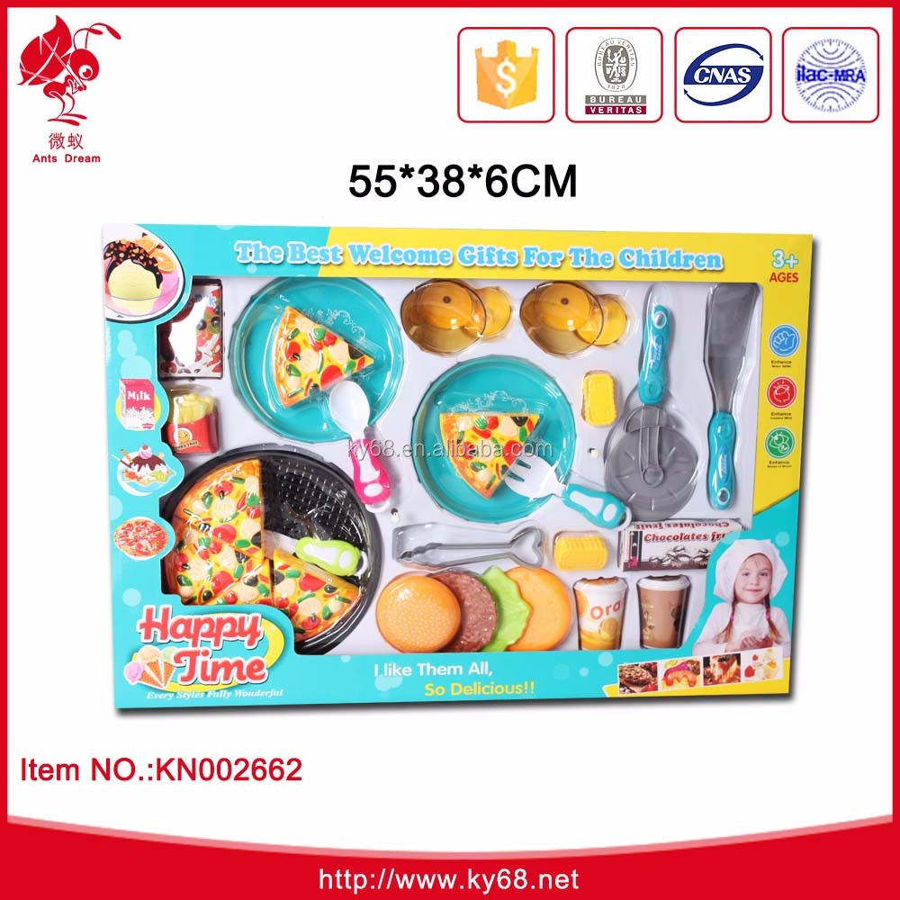 Pretend Play Set Kitchen Plastic Pizza Toy Fast Food Play Set For ...