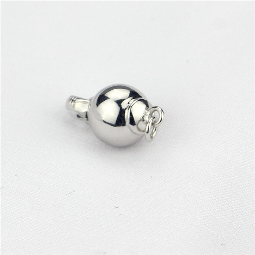 7mm sterling silver smooth ball jewelry clasp types