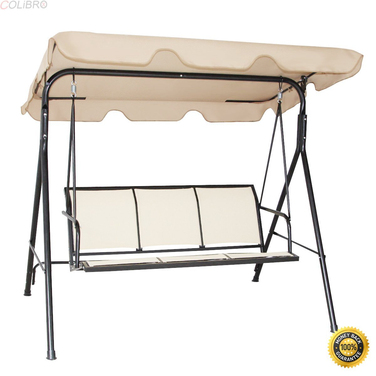 Cheap 3 Person Outdoor Swing With Canopy Find 3 Person Outdoor