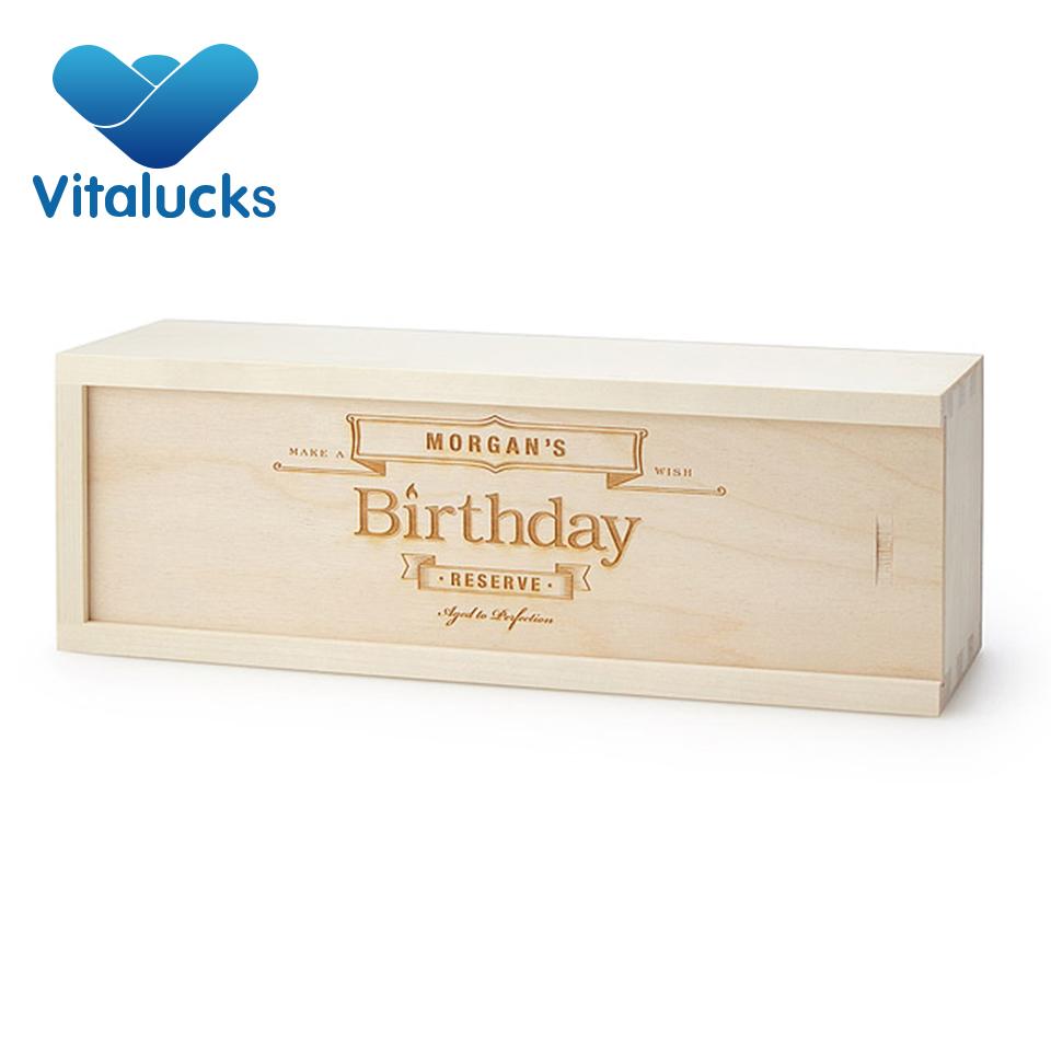 गर्म बिक्री अच्छी गुणवत्ता अनुकूलित सस्ते मैग्नम लकड़ी शराब बॉक्स