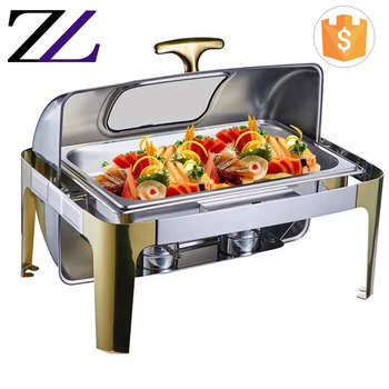 Arabic commercial restaurant used catering equipment cheap roll top chafer dish buffet wholesale