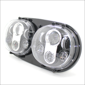 Motorcycle LED Head Light HID Projector Headlight Assembly custom motorcycle headlight