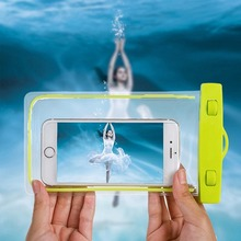 Universal Underwater Waterproof dry Bag Case for iPhone 6 6s 7 plus S7 S6 S5 Sealed Waterproof case Pouch Phone Covers Case