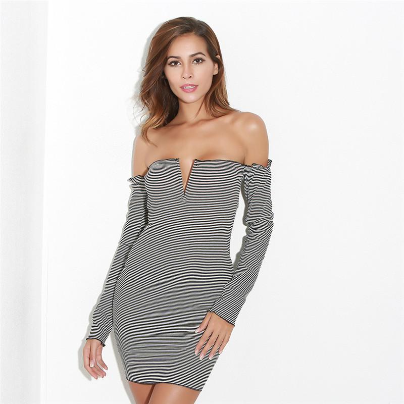 1a985553f30 Bonvatt Сексуальные вечерние платья для вечеринок изображение с плеча  черные вечерние сексуальные платья для вечеринок мини
