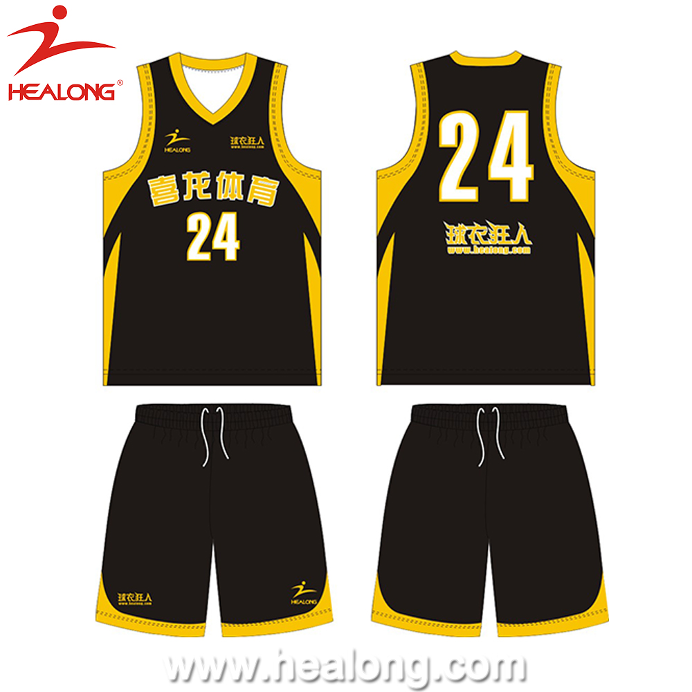 2014 China Oem Best Basketball Jersey Design Basketball Jersey Black