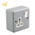 Durable outdoor 13A 1 gang universal metal clad switch socket
