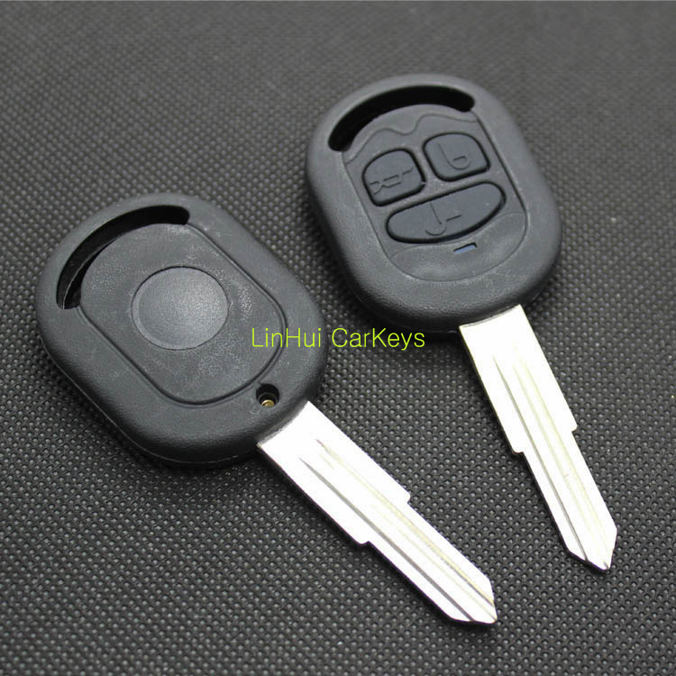 New Blank 3 Buttons Remote Key Shell for Buick Excelle HRV Key With Logo