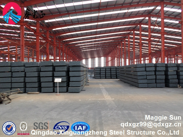 Double slope Wide span Construction design steel structure warehouse
