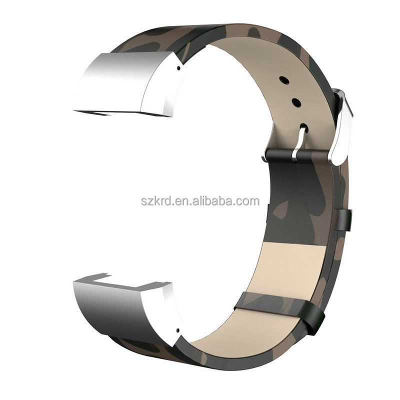Genuine Leather Band For Fitbit Charge 2 Charge2 Smart Bracelet Strap Replace Watchband With Steel Buckle