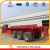 with container twist lock flatbed type 40 foot truck trailer cheap