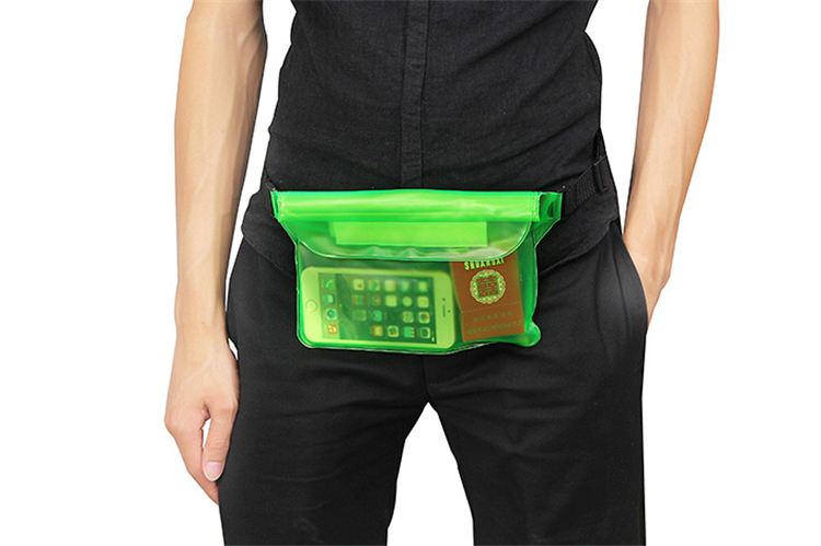 Waterproof waist bag pvc bag Three sealed outdoor swimming