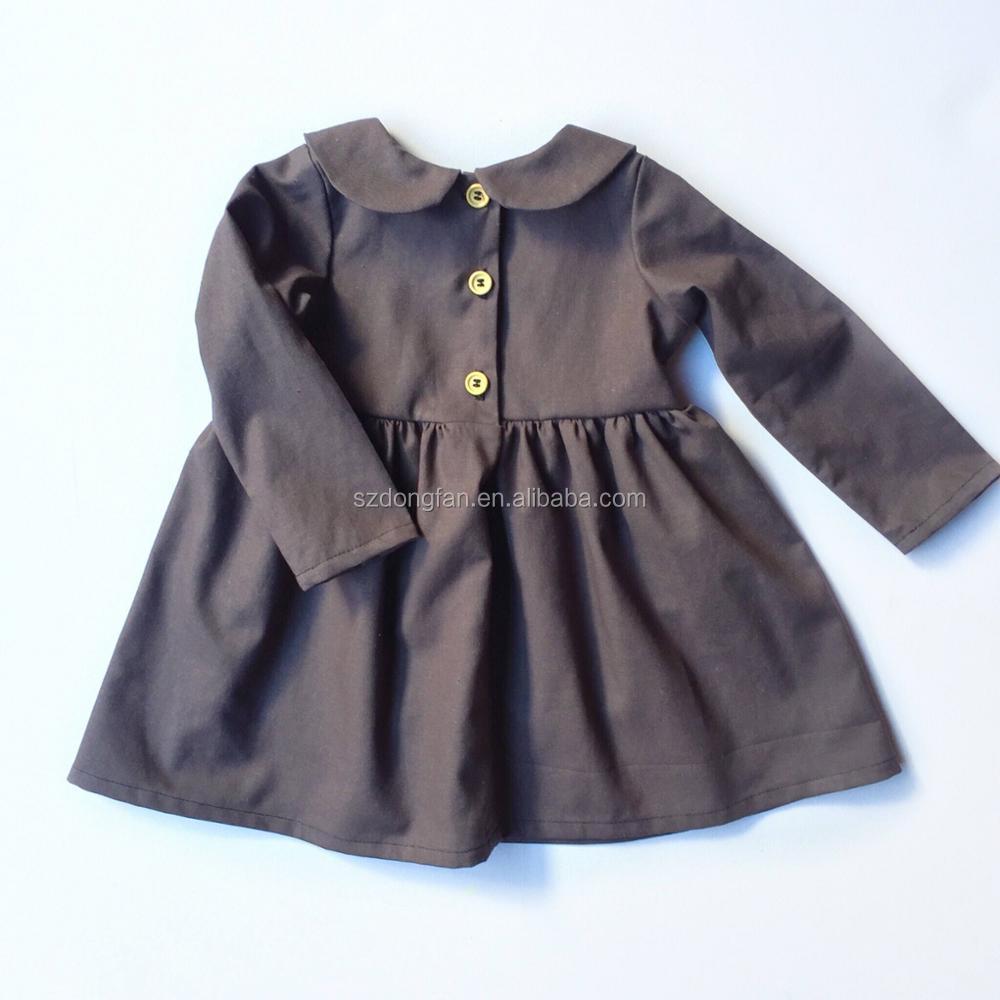 bfa5466890d6c Professionnel Enfant Vêtement Usine 2 Ans Robe de Fille Robe En Lin Pour  L automne