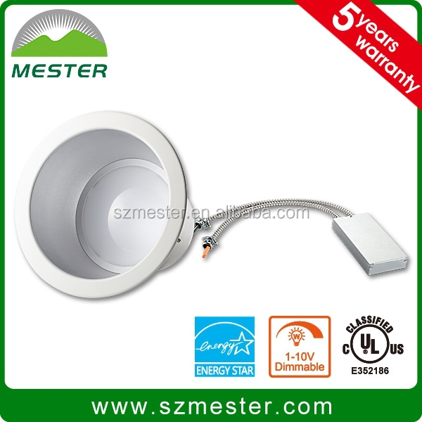 UL cUL approved 35w 2400LM Dimmable Led Commercial Downlight 6 in 8 in 10 in
