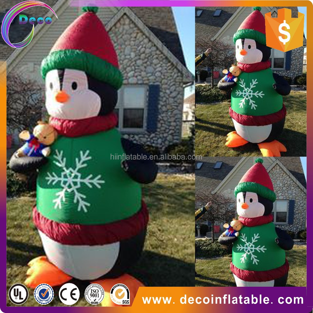 popular giant inflatable christmas decoration penguin with green clothes for sale buy inflatable christmasinflatable christmas decoration inflatable