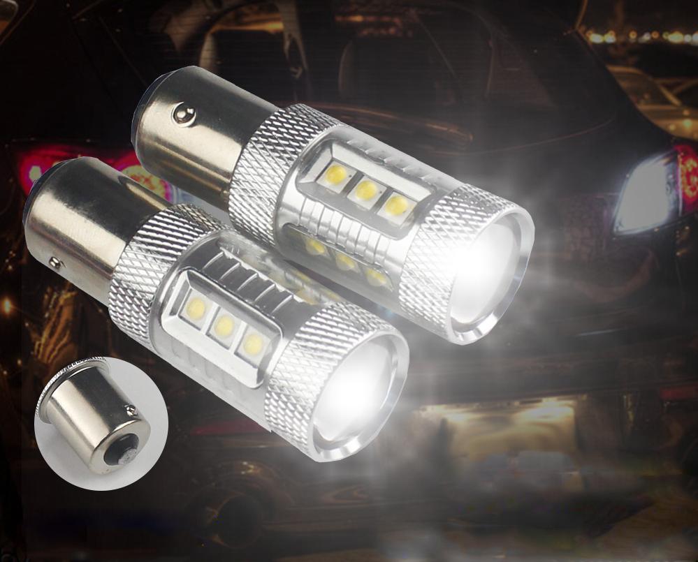 12v Auto Led Bulb Ba15s 1156 80w Cree Led Car Reverse Lamp