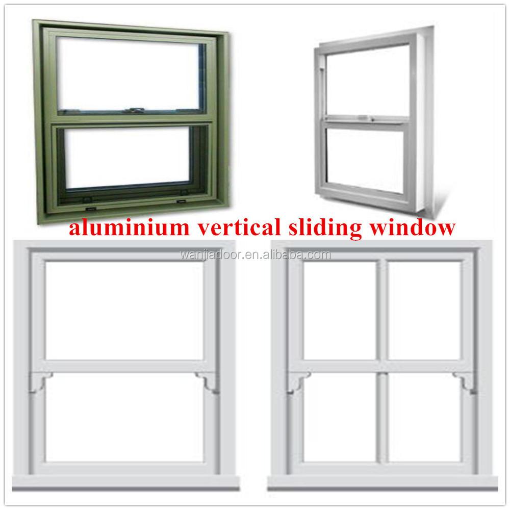 Foshan factory aluminium vertical sliding window view for Vertical sliding window design