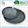 "Tray Dark Color 15.35""&11.8"" Round Metal Decor Plate,set of 2"