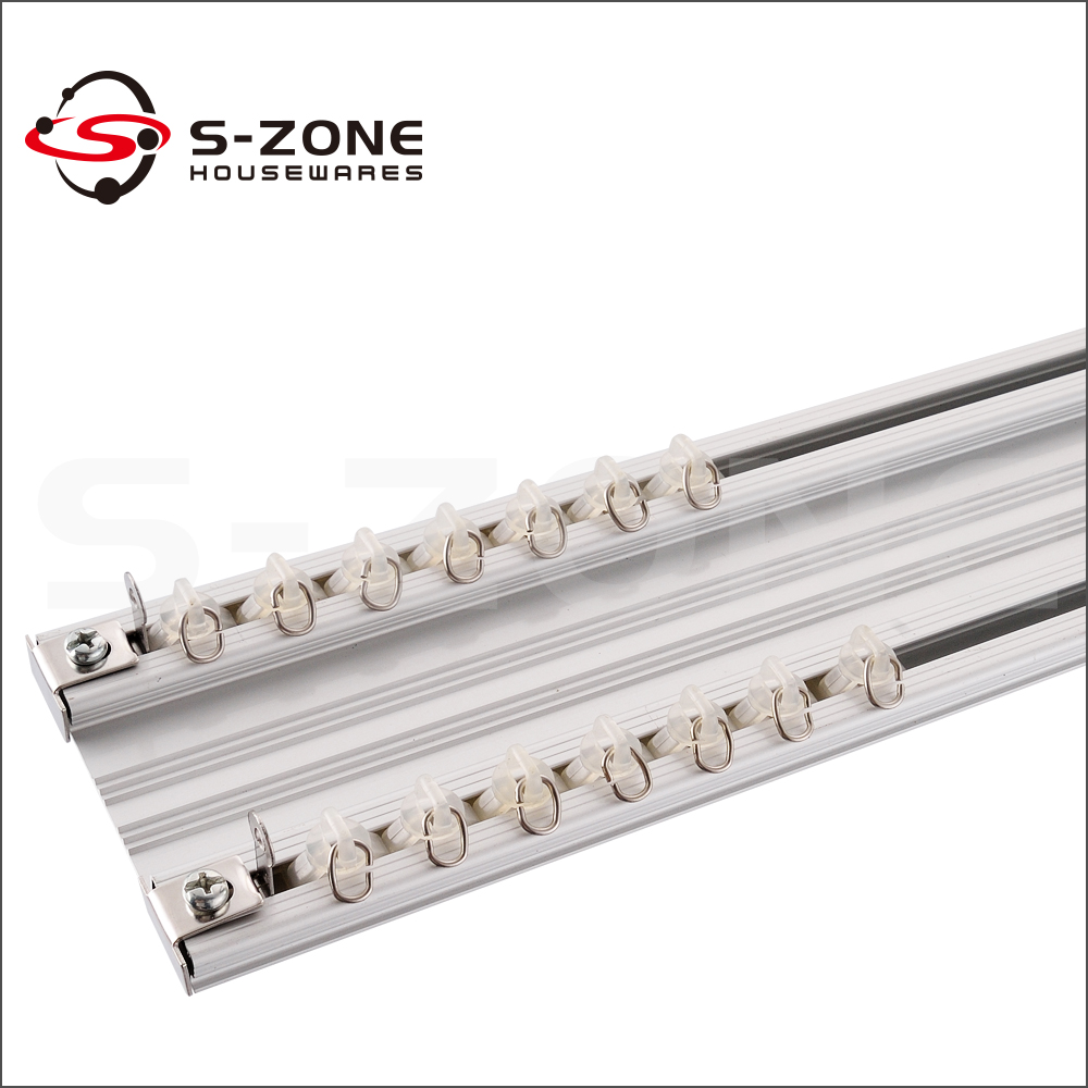 Ceiling Mounted Aluminium Curtain Track Window Decorative Curtain Rail