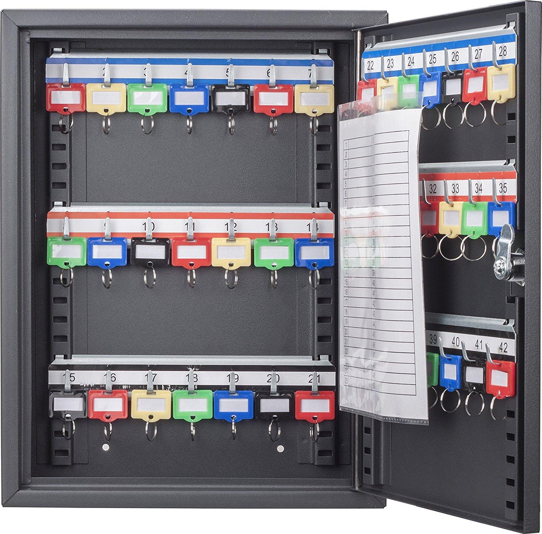 BARSKA Steel 42 Key Safe Cabinet with Key Lock