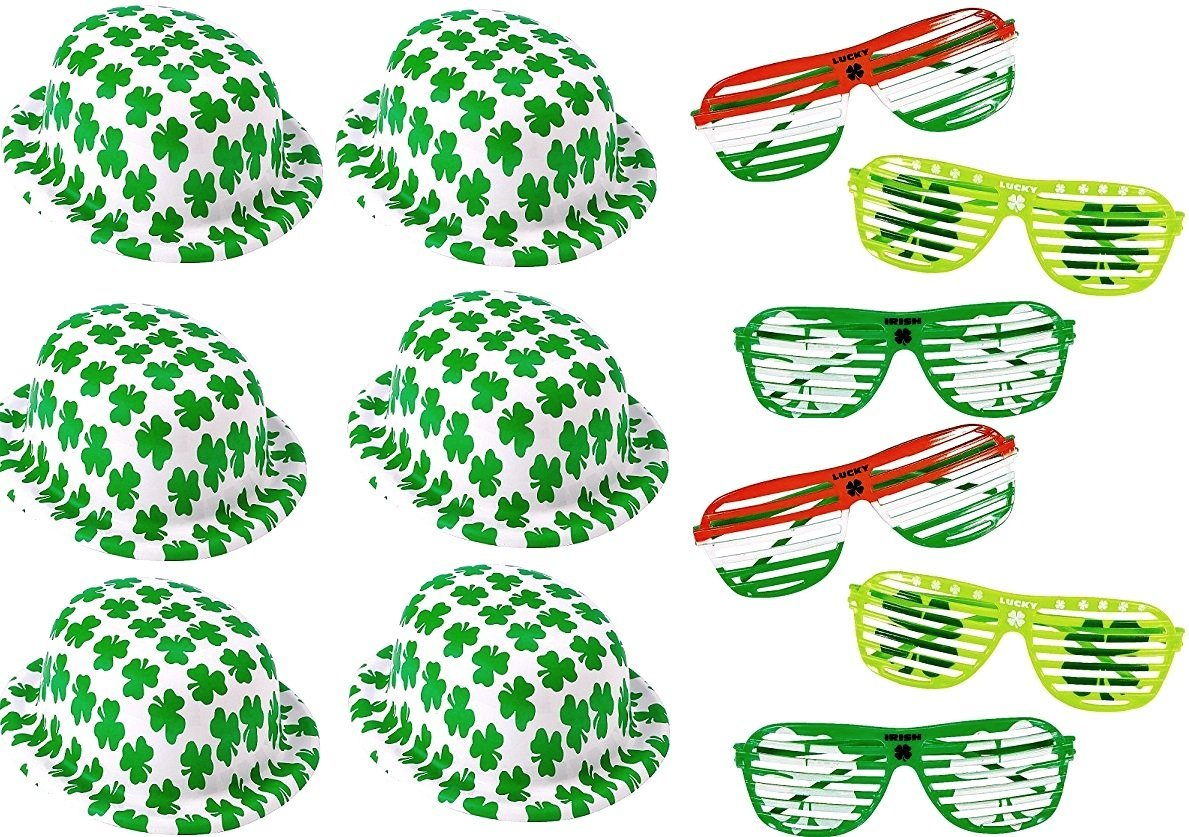d0382813e1fb Get Quotations · 12 St. Patrick's Day Accessory Bundle ~ 6 Pairs of St.  Patrick's Day Glasses