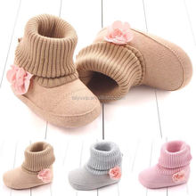 2018 popular design 18-24 months baby shoes sock winter soft leather kids prewalker shoes