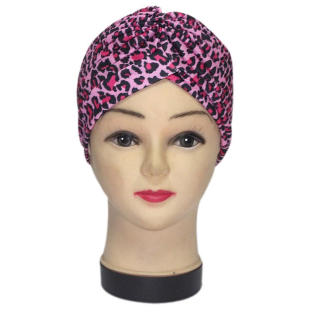 Tapa de la cabeza del sombrero del turbante del baño del poliéster elástico  plisado 1X Gorra del sol (NO caja al por menor. Embalado con seguridad en  bolso ... 07b11b47558