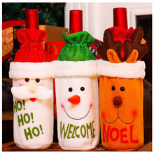 Christmas Decoration Supplies Wine Bottle Cover Pouch Bags Wholesale