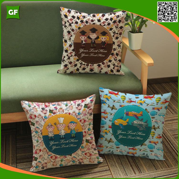 creativo del fumetto cuscino stampato copertura piccola cucina colorate di alta qualit del poliestere di modo