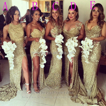 0e65a0d206b 2015 Sexy Plus Size Sweetheart Sleeveless Gold Sequin Sparkly Long Bridesmaid  Dress Wedding Party Dress BD251
