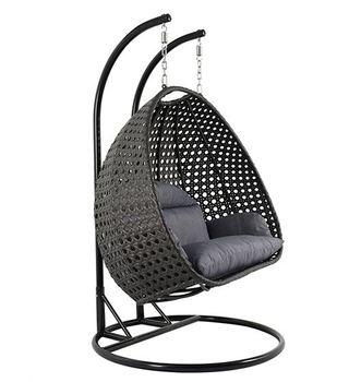Leisure Styles 2 Seater Garden Hanging Papasan Rattan Swing Chair