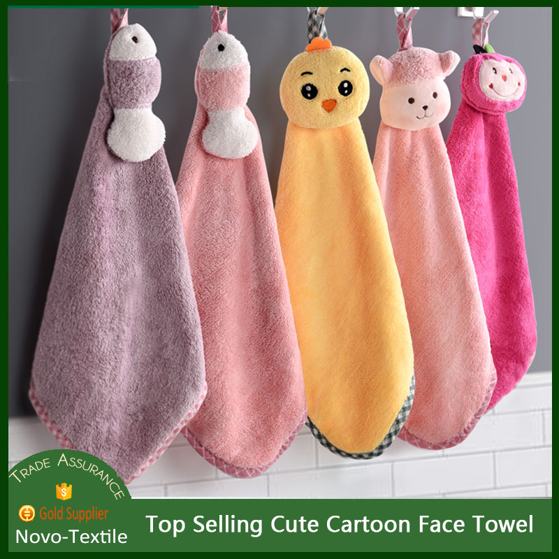 Top Selling Cute Face Towel Flannel Hand Towel Gift Super Absorbent