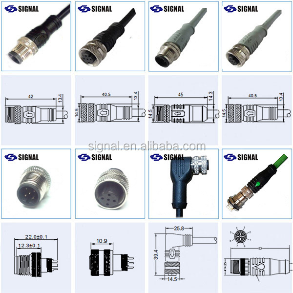 M12 Types Of Cable Joints Connector Electrical Power