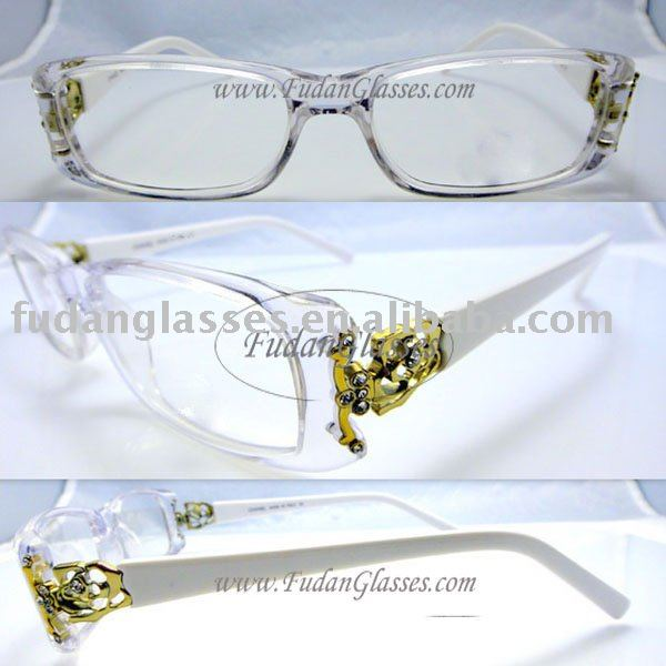 Fast&Free shipping eyewear frame fashion optical frame eyeglasses CH Y06 white