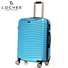 Zipper Plastic Carry-on Blue Ultra Lightweight Fashion Cheap Luggage Set On Sale
