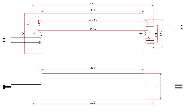 SAA 100w 48v 2A HBG round shape aluminum led driver transformer