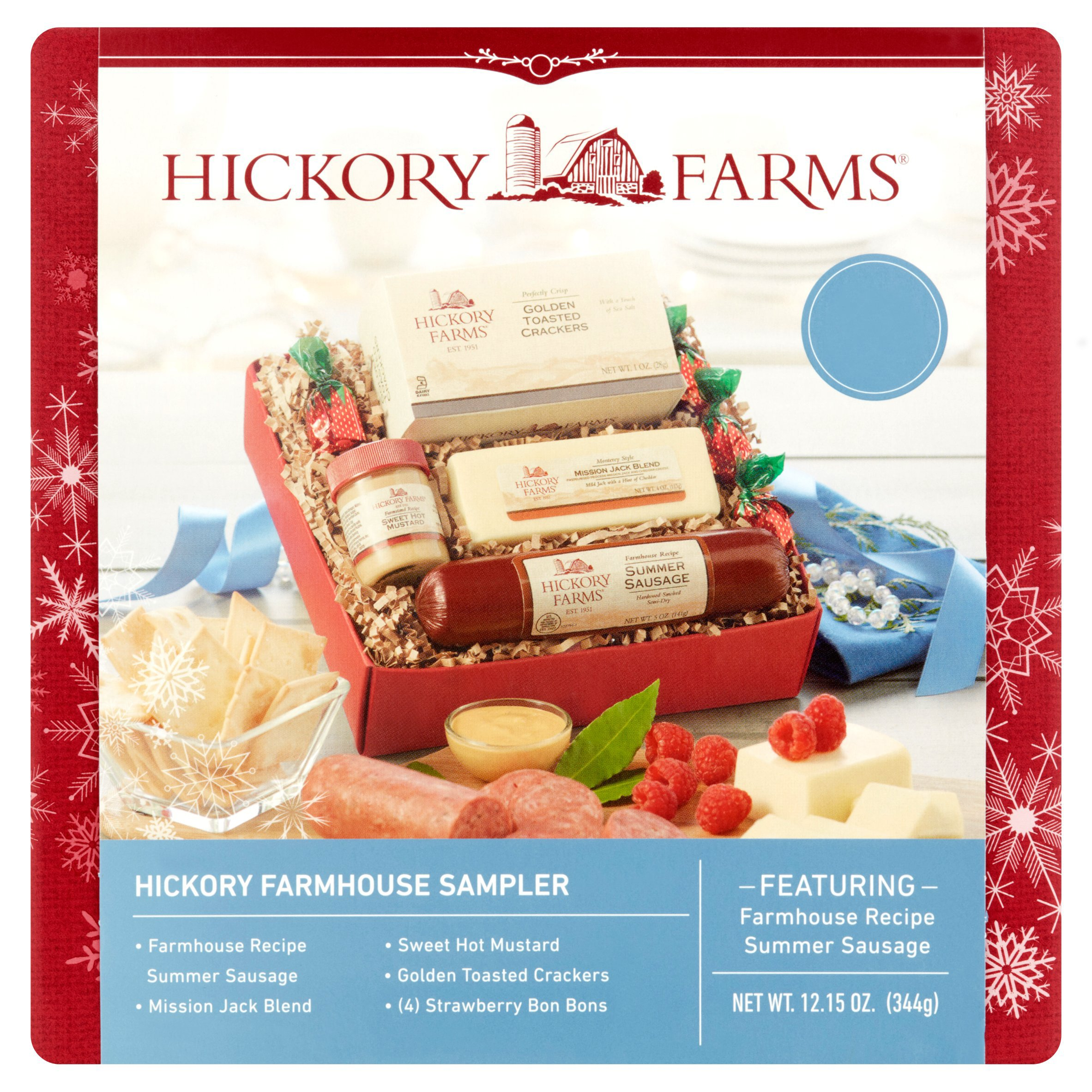 Buy Hickory Farms Holiday Tradition Sausage & Cheese 5-Piece Gift ...