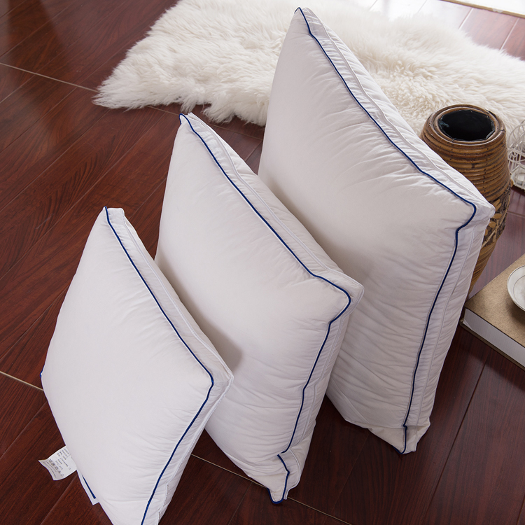 pure white cotton cover down feather cushion