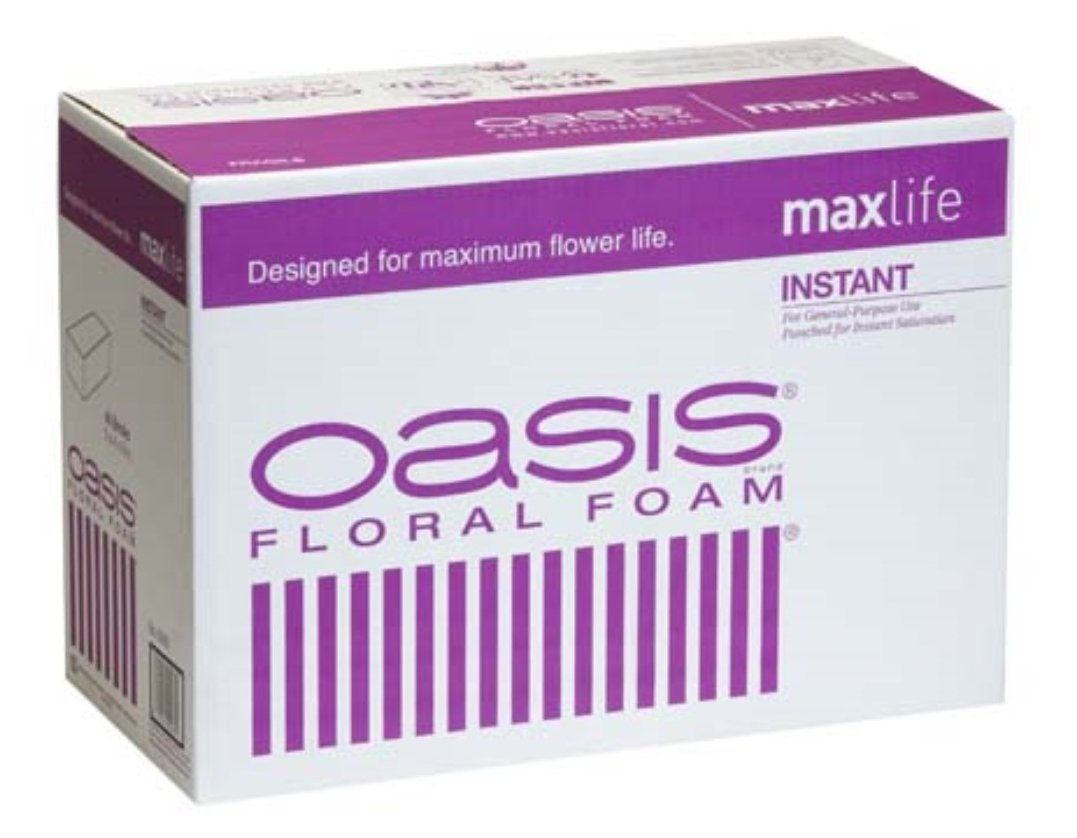 Oasis Instant Standard Floral Foam Bricks - Case of 48 - Maxlife Floral Foam - Wet Floral Foam Bricks for Flower Arranging