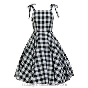 women black white checkered rockabilly dress goth dress vintage