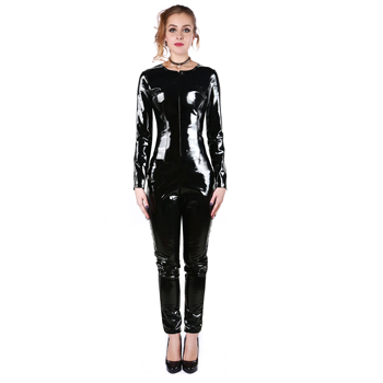 2019 new woman leather pvc catsuit sexy pvc catsuit bondage