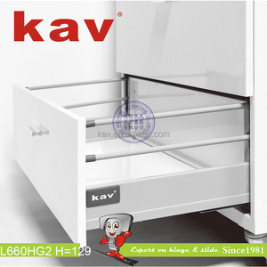 L660HF Two Function Push Open-Soft Close Double Wall Soft Close Drawer System
