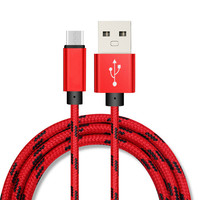 1m Fast Charging Nylon Braided micro usb data cable Data Sync Mobile Phone Charger Cable