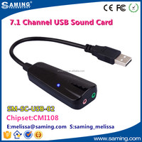 High QUality 7.1 Channel USB 2.0 External Sound Card Audio Adapter