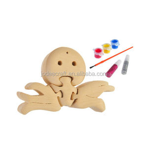 3D wooden craft puzzle octopus